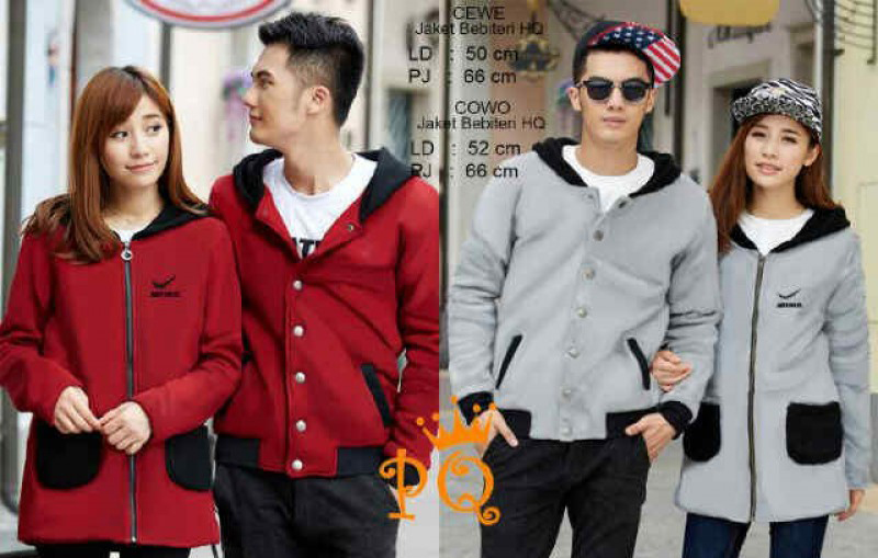 Jaket dan jam tangan couple